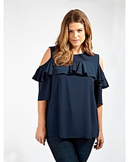 Lovedrobe GB Cold Shoulder Blouse