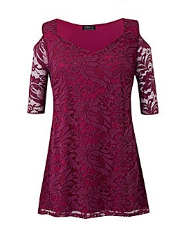 Grace Made in Britain lace tunic top
