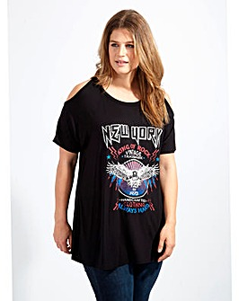 Koko Cold Shoulder New York Band T-Shirt