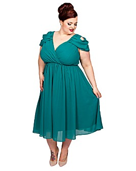 Scarlett & Jo Cold Shoulder Dress