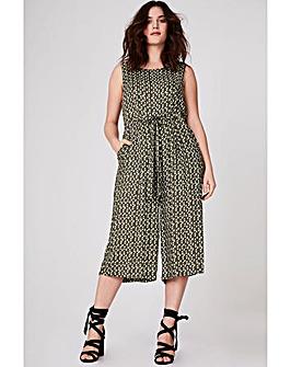 Elvi Printed Culotte Jumpsuit