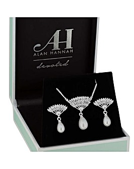 Alan Hannah Fan Droplet Jewellery Set