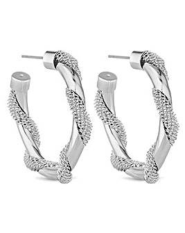 Jon Richard Mesh Twist Hoop Earring