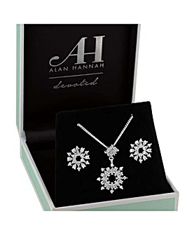 Alan Hannah Snowflake Jewellery Set