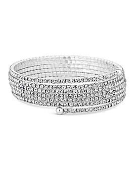 Jon Richard Fine Diamante Coil Bracelet