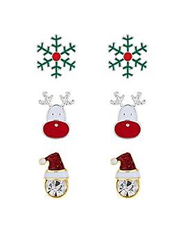 Mood Christmas Earring Set
