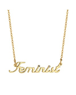 Mood Crystal Feminist Necklace