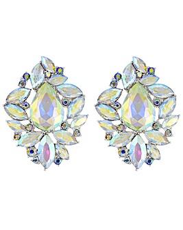 Mood Crystal Cluster Stud Earring