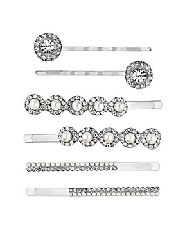 Mood Crystal And Pearl Hair Slide Set