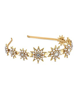 Mood Pearl And Crystal Star Headband
