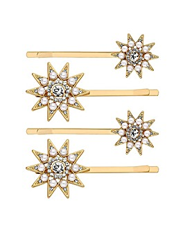 Mood Crystal Star Hair Slide Set