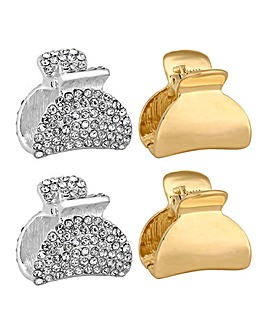 Mood Pave Hair Clamp Set