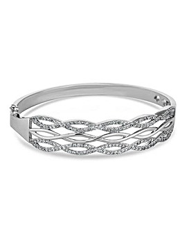 Jon Richard Silver Pave Infinity Bangle