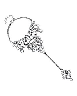 Mood Crystal Cluster Ornate Hand Chain