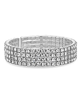 Jon Richard Diamante Cuff Bracelet