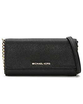 Michael Kors Leather Wallet On A Chain