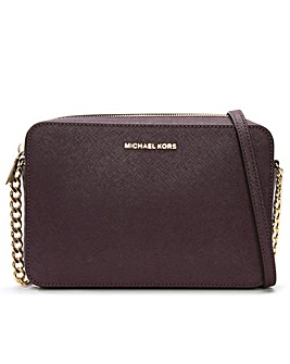 Michael Kors EW Leather Cross-Body Bag