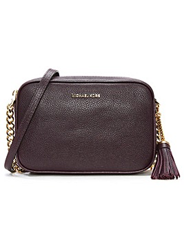 Michael Kors Tumbled Leather Camera Bag