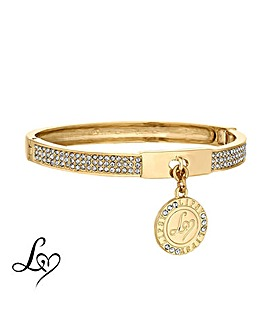 Lipsy Crystal Pave Charm Bangle