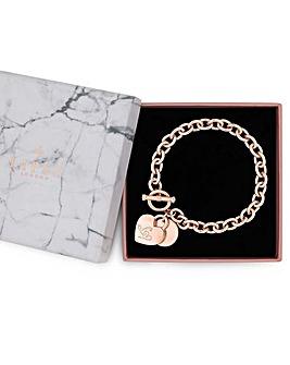 Lipsy Heart Charm Gift Bracelet