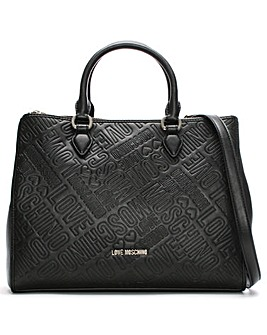 Love Moschino Embossed Logo Grab Bag