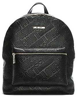 Love Moschino Embossed Logo Backpack