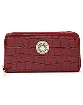 Versace Jeans Plaque Moc Croc Zip Wallet