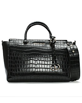 Versace Jeans Moc Croc Winged Day Bag