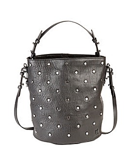 Love My Soul Sienna Studded Bucket Bag