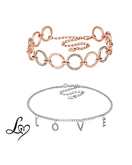 Lipsy Crystal Love Choker Set
