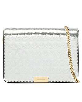 Michael Kors Leather Embellished Clutch