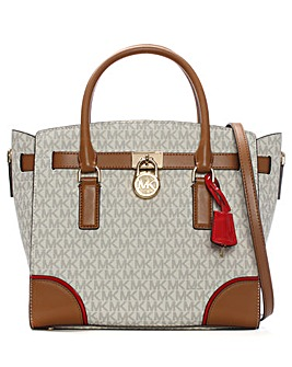 Michael Kors Pattern Padlock Satchel Bag