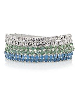 Mood Pastel Crystal Bracelet Set