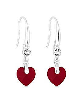 Jon Richard Swarovski Heart Earring