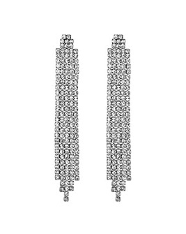 Jon Richard Diamante Drop Earring