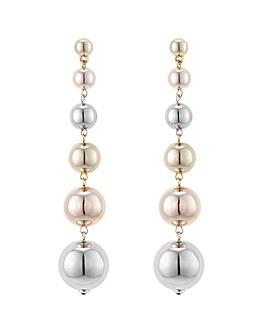 Mood Multi Tone Sphere Drop Earring