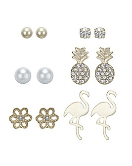 Mood Flamingo Stud Earring Set