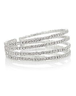 Mood Diamante Row Cuff Bracelet