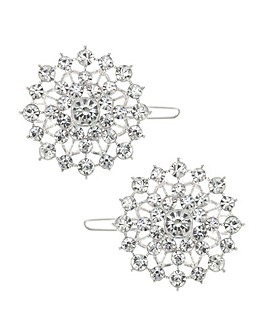 Mood Crystal Cluster Hair Slide Set