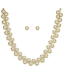Mood Gold Ball Twist Jewellery Set