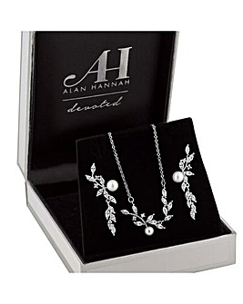 Alan Hannah Pearl Vine Jewellery Set