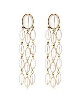 Mood Oval Pearl Droplet Earring