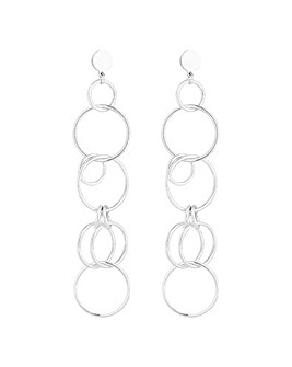 Mood Circle Link Drop Earring