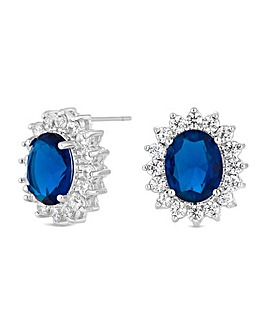 Jon Richard Cubic Zirconia Halo Earring