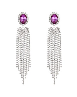 Mood Oval Crystal Diamante Drop Earring