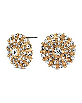 Mood Pave Disc Stud Earring