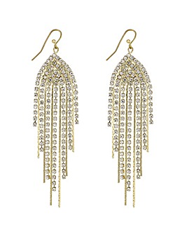 Mood Diamante Curve Drop Earring