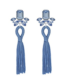 Mood Blue Crystal Tassel Earring