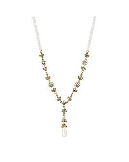 Alan Hannah Floral Pearl Y Necklace
