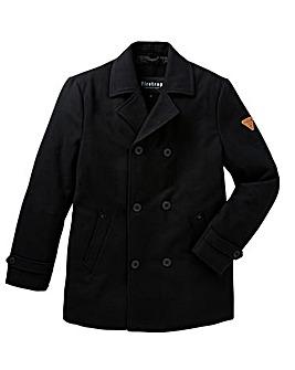 Firetrap Wool Melton Peacoat
